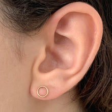 Load image into Gallery viewer, Open Circle Ear Stud in Sterling Silver