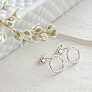 Open Circle Ear Stud in Sterling Silver