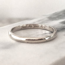 Load image into Gallery viewer, Personalised Gold Classic Wedding Band with Custom Engraving