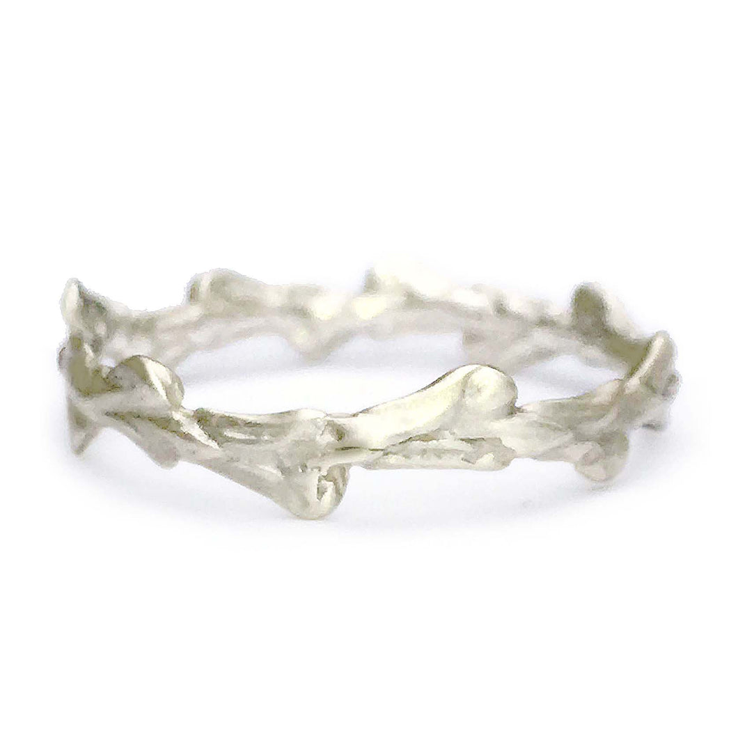 Conifer Leaf Band Ring