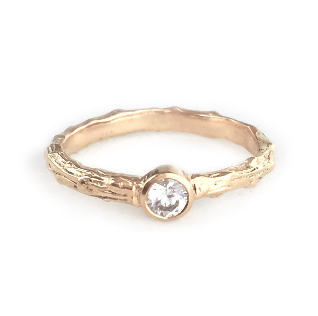 Cypress Twig Engagement Ring in 9 carat Gold