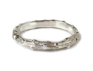 Cypress Twig Diamond Eternity Ring in 9 carat Gold