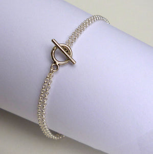 Domus - sterling silver double chain bracelet