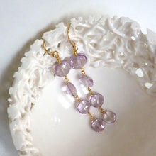 Load image into Gallery viewer, Gatsby - pink amethyst earrings
