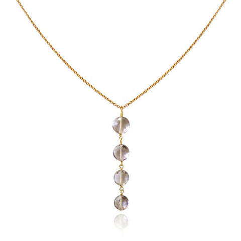Gatsby - pink amethyst necklace