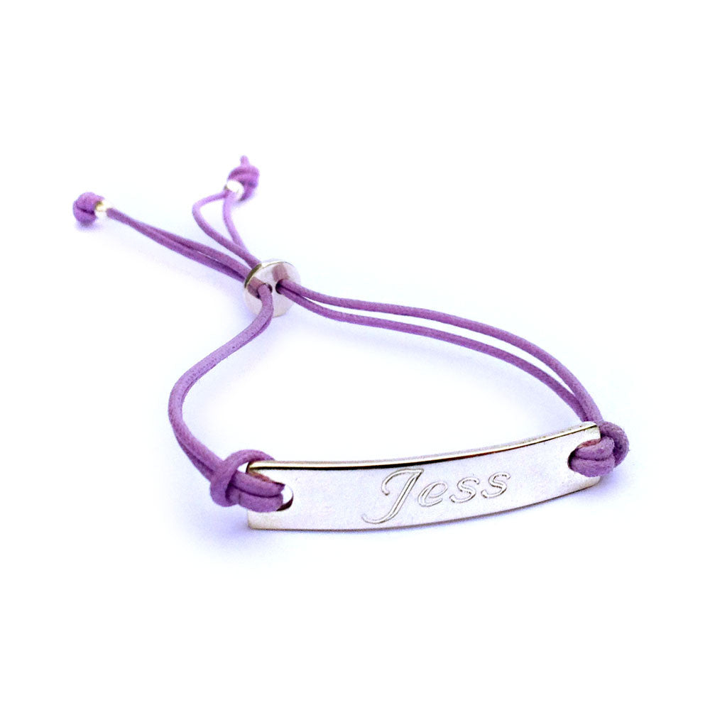 Personalised Silver Bar Friendship Bracelet