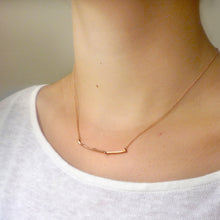 Load image into Gallery viewer, Twig Necklace - Oak Twig Curved Bar Necklace