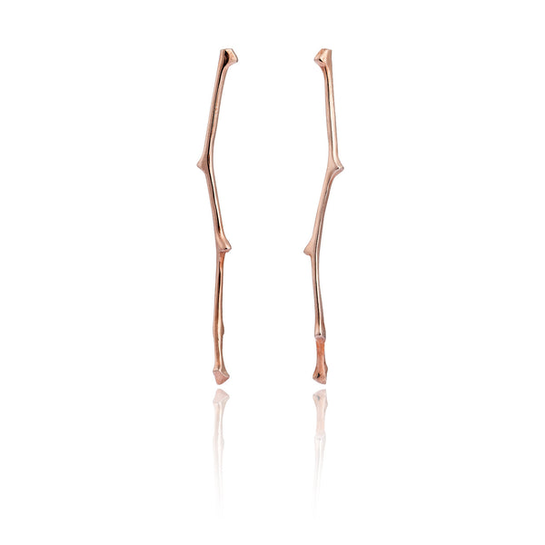 Twig Long Stud Earrings