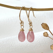 Load image into Gallery viewer, Sapphire Smooth Briolette Drop Earrings