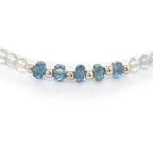 Load image into Gallery viewer, Blue Sapphire, Labradorite and Iolite Bracelet with Sterling Silver Beads