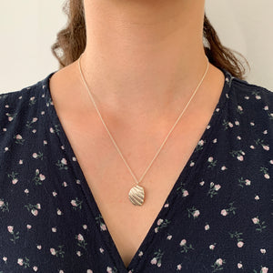 Paradiso Sterling Silver Shell Fragment Necklace