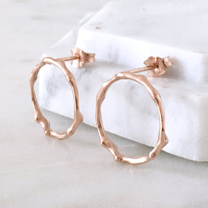 Twig Circle Stud Earrings - large
