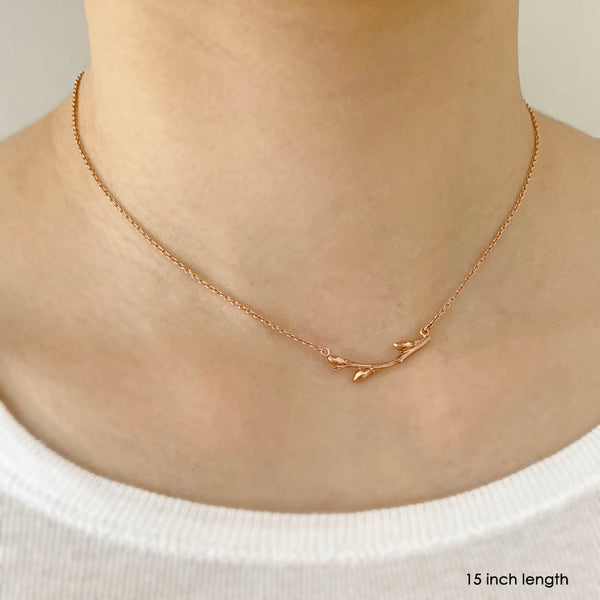 Willow Twig Necklace available in Fair Trade gold