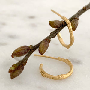 Willow Twig Small Hoop Earrings
