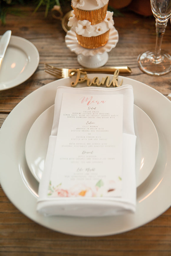 Menu Card | The Alyssa