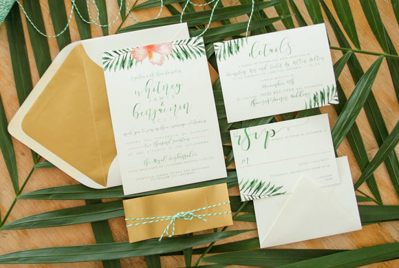The Whitney | Tropical Wedding Invitation Suite