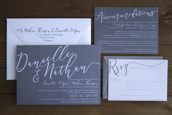 The Danielle | Shimmer Wedding Invitation Suite