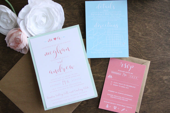 The Meghan | Rustic Chic Wedding Invitation Suite