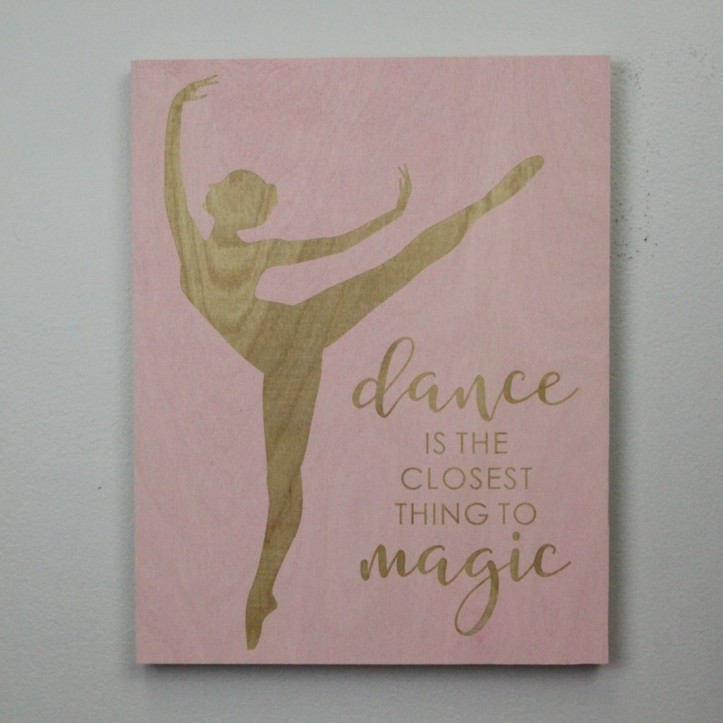 Dance Themed Laser Engraved Sign