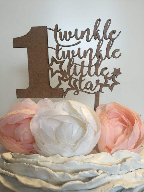 Twinkle Twinkle Little Star (With Age) Cake Topper