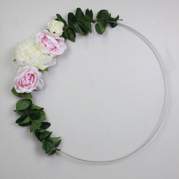 Floral Wreath | Pink & White