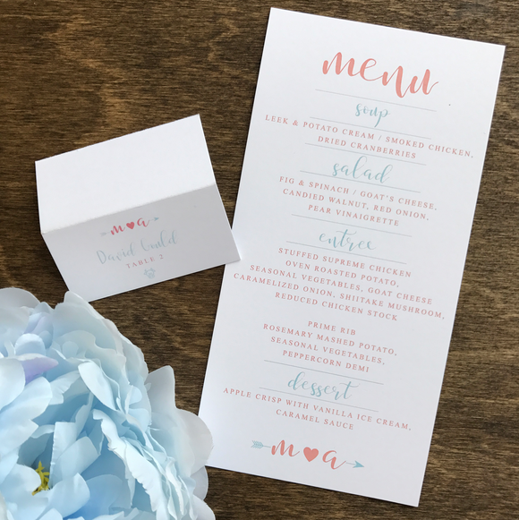 Menu Card | The Meghan