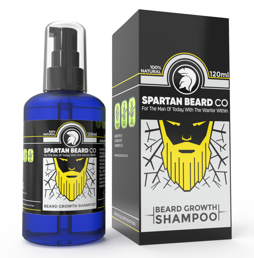 Premium Luxurious Beard Wash, Beard Shampoo by Spartan Beard Co. Made from 99% Natural Ingredients for The Best Beard Care Shampoo. Promotes Healthy Beard Growth
