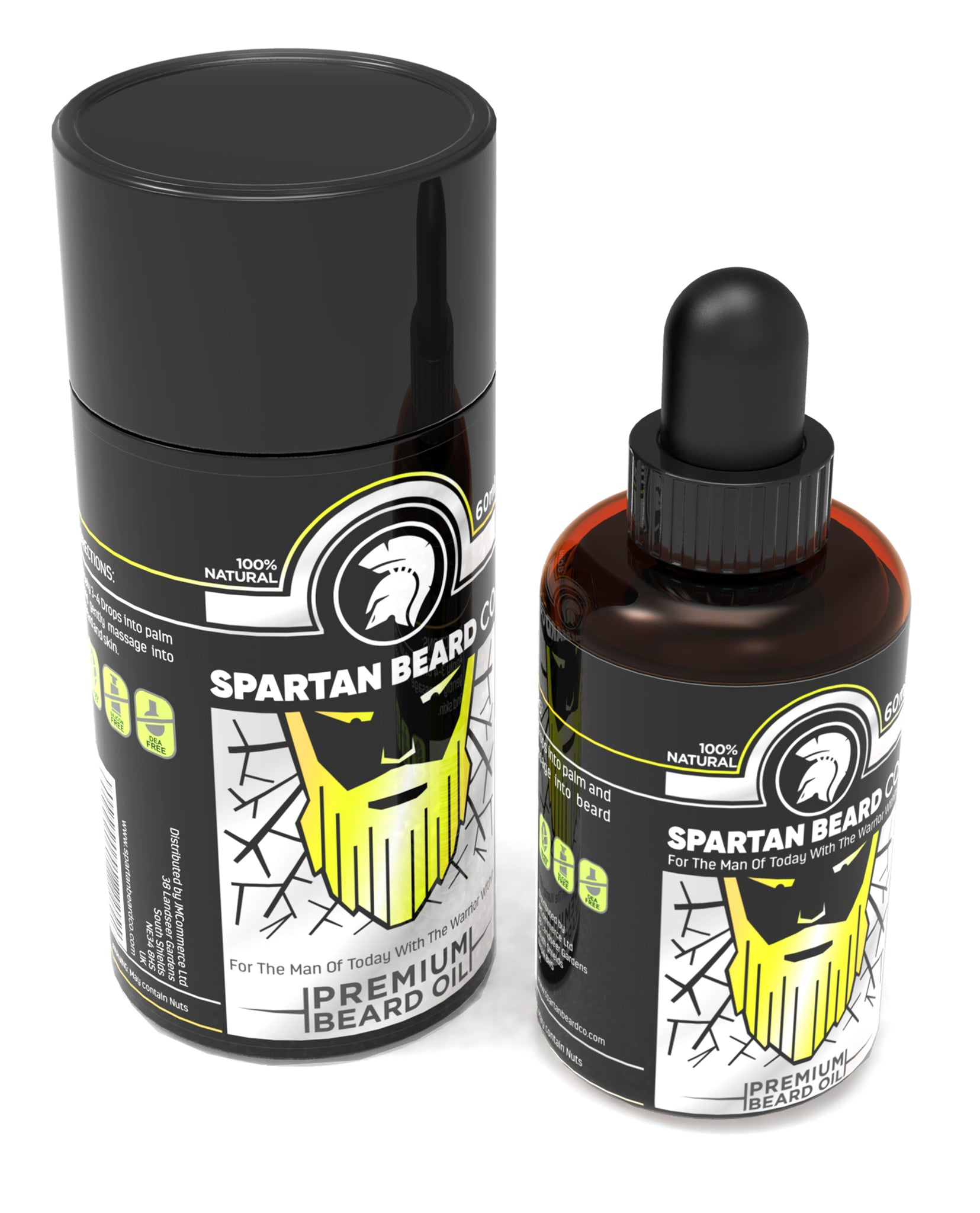 Spartan Beard Oil | 7 Premium Essential Oils Crafted For Beard, Face And Skin Health | Beard Conditioner & Beard Growth Serum | Join The Elite Way Of Beard Care