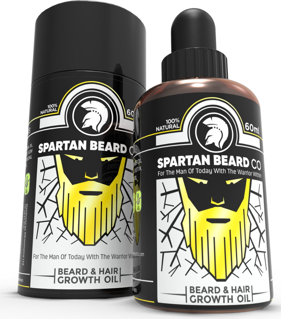 Spartan Beard co - Beard Growth Oil | Premium Facial Hair Accelerator Serum | Powerful Beard & Hair Growth Formula | Natural Beard Care | Hair Growth Oil with Extra Biotin