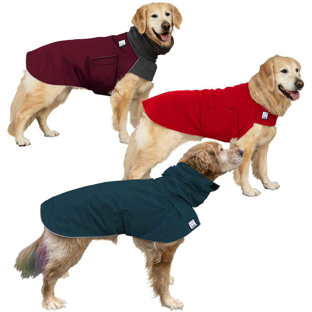 Voyagers K9 Apparel Golden Retriever All Weather Combo