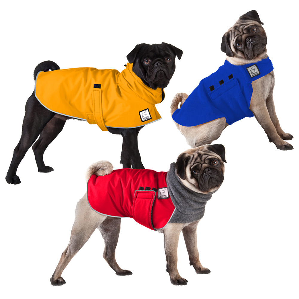 Voyagers K9 Apparel Pug All Weather Combo