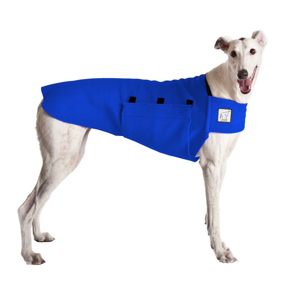 Voyagers K9 Apparel Greyhound Tummy Warmer (Blue Polartec Polar Fleece Coat)
