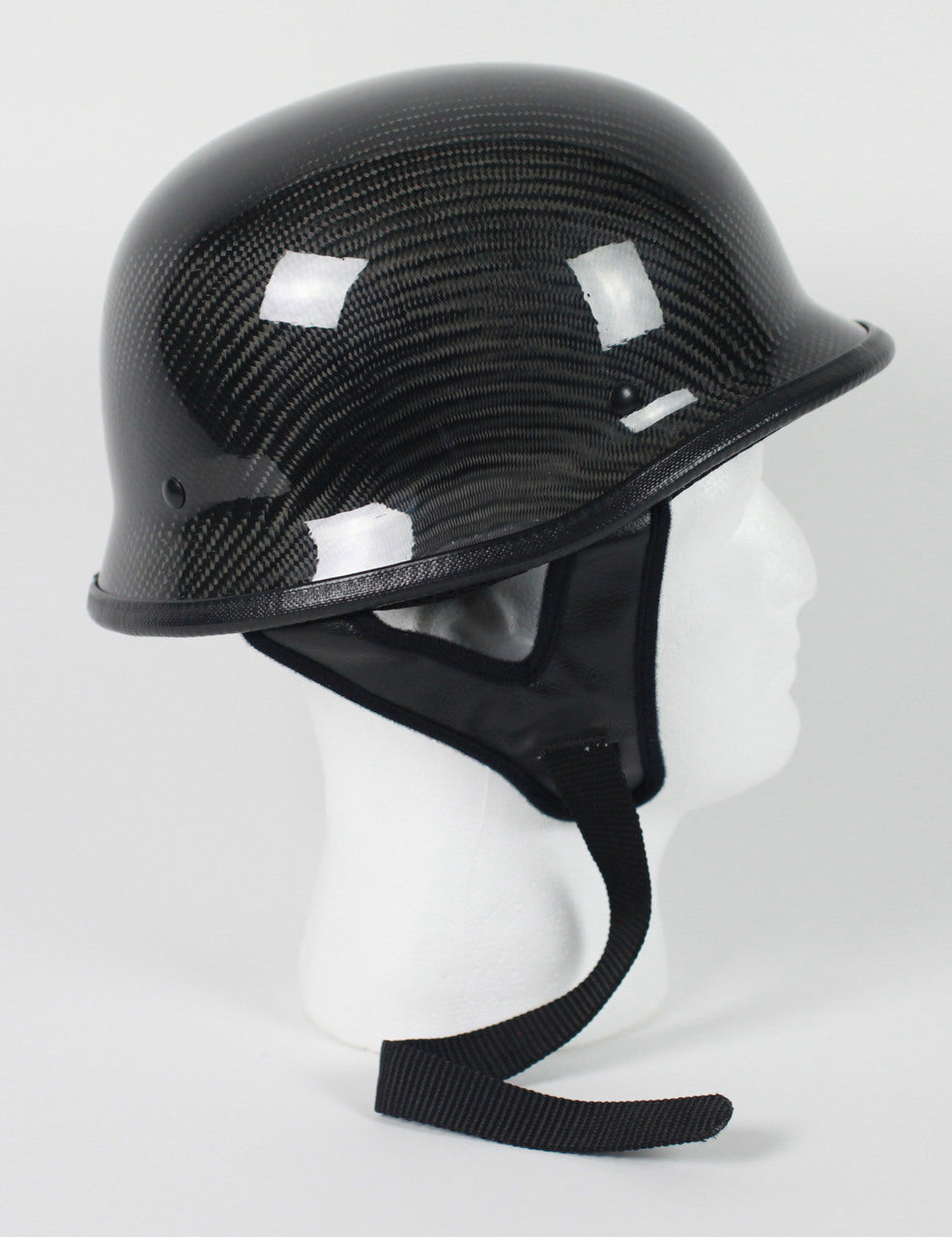Real Carbon Fiber DOT German Motorcycle Helmet - SKU USA-103CF-HI - USA Biker Leather