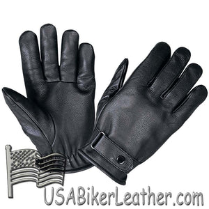 Full Finger Leather Riding Gloves with Adjustable Strap - SKU USA-1229.00-UN