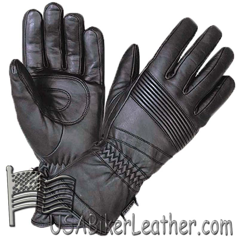 Full Finger Waterproof Leather Motorcycle Riding Gauntlet Gloves - SKU USA-1433.00-UN