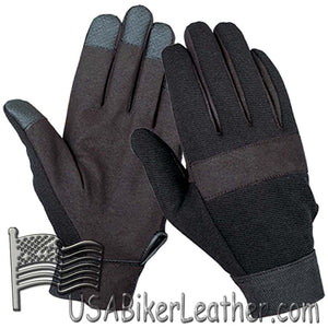 Black Textile Mechanics Gloves - SKU USA-1464.00-UN
