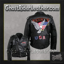 Diamond Plate Mens Hand Sewn Pebble Grain Genuine Leather Motorcycle Jacket / SKU GRL-GFMOTLTR-BN