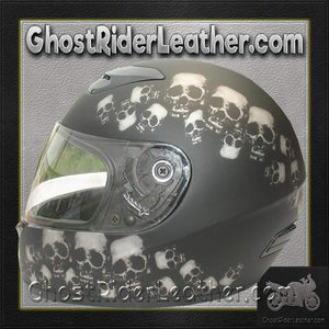 DOT Full Face Skull Pile Motorcycle Helmet / SKU GRL-RZ80SP-HI