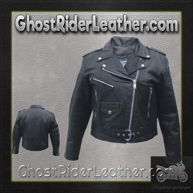Ladies Classic Biker Leather Jacket Light Weight / SKU GRL-AL2100-LIGHT-AL
