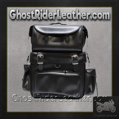 Large PVC Motorcycle Sissy Bar Bag / SKU GRL-SB002-DL - USA Biker Leather