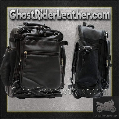 Motorcycle Sissy Bar Bag with Wheels / SKU GRL-SB6001-DL