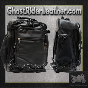 Motorcycle Sissy Bar Bag with Wheels / SKU GRL-SB6001-DL - USA Biker Leather