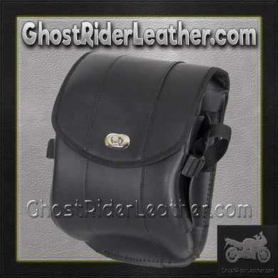 Plain PVC Motorcycle Sissy Bar Bag with Gun Holster/ SKU GRL-SB86-DL - USA Biker Leather