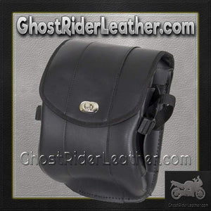 Plain PVC Motorcycle Sissy Bar Bag with Gun Holster/ SKU GRL-SB86-DL