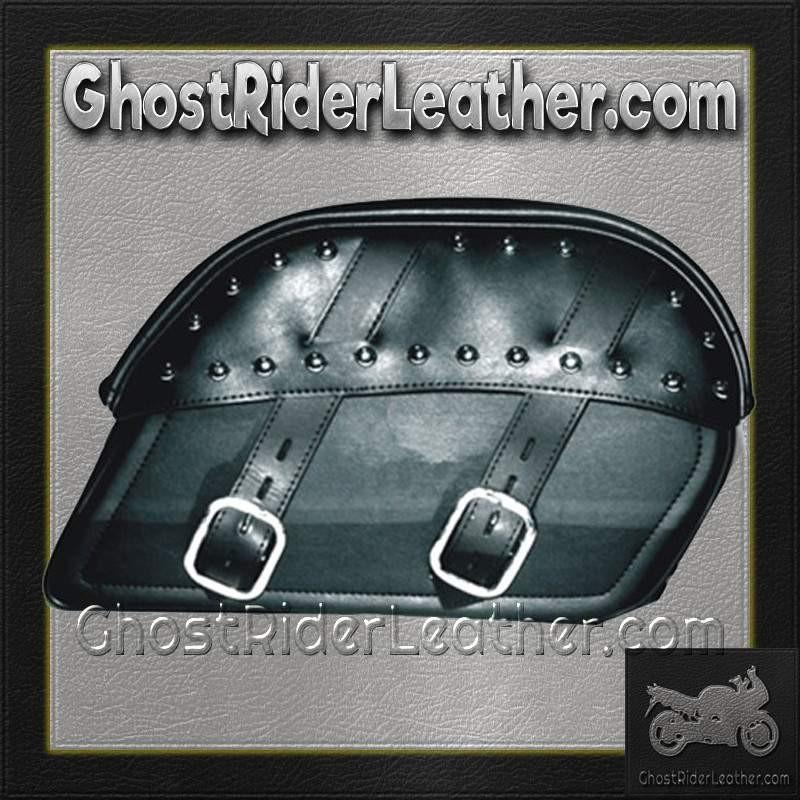 PVC Motorcycle Curved Top Slanted Saddlebags / SKU GRL-SD4083-PV-DL