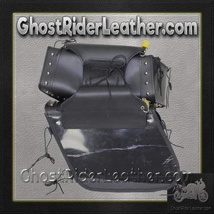 PVC Motorcycle Saddlebags With Studs and Gun Pockets / SKU GRL-SD4090-PV-DL