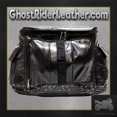 PVC Motorcycle Sissy Bar Travel Bag / SKU GRL-SB7-DL - USA Biker Leather