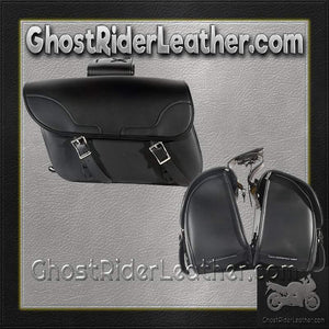 PVC Motorcycle Slanted Saddlebags / SKU GRL-SD4089-NS-PV-DL