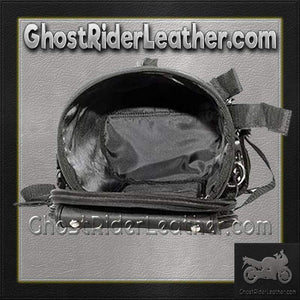 Round Motorcycle Sissy Bar Duffle Bag with Studs / SKU GRL-SB77-DL - USA Biker Leather