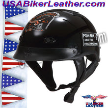 DOT POW MIA Motorcycle Helmet / Never Forget / SKU USA-1VPOW-HI - USA Biker Leather